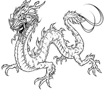 Dragons and Fairies Coloring Page