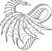 Dragons Lovely Coloring Page