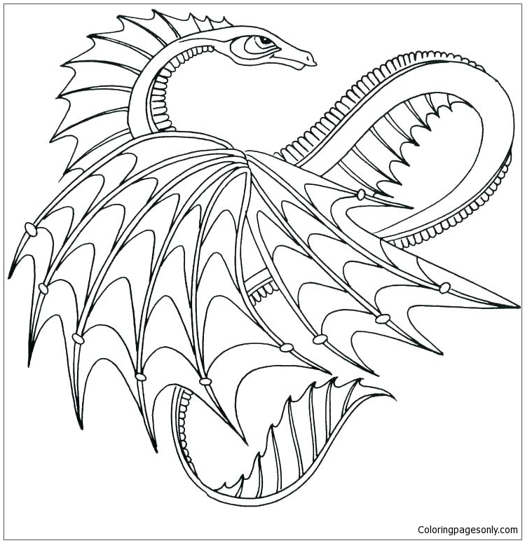Dragons Lovely Coloring Page - Free Coloring Pages Online