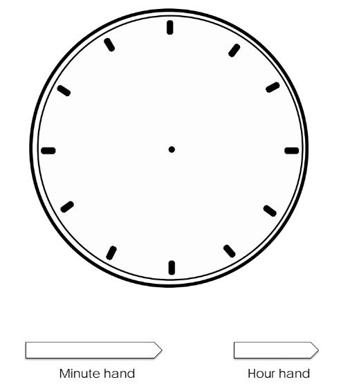 Draw Arrows For Clock Coloring Page