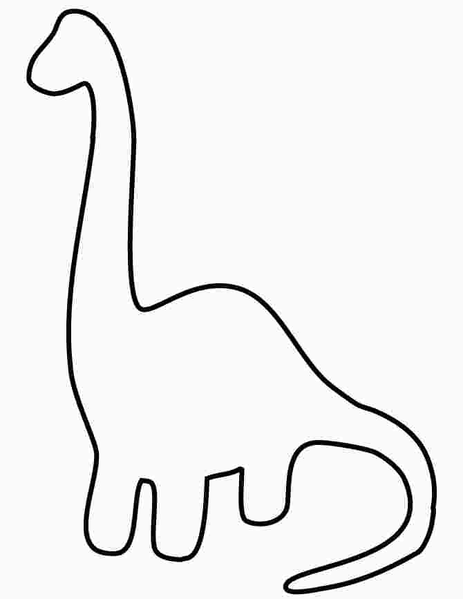 Drawing Simple Apatosaurus Dinosaur for Toddlers Coloring Page