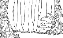 Drawn Forest Simple Coloring Page