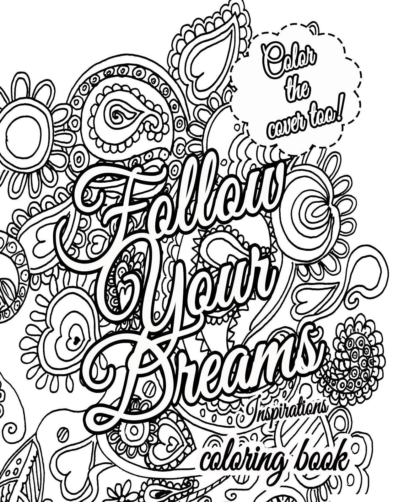 Dreams Quotes Coloring Page