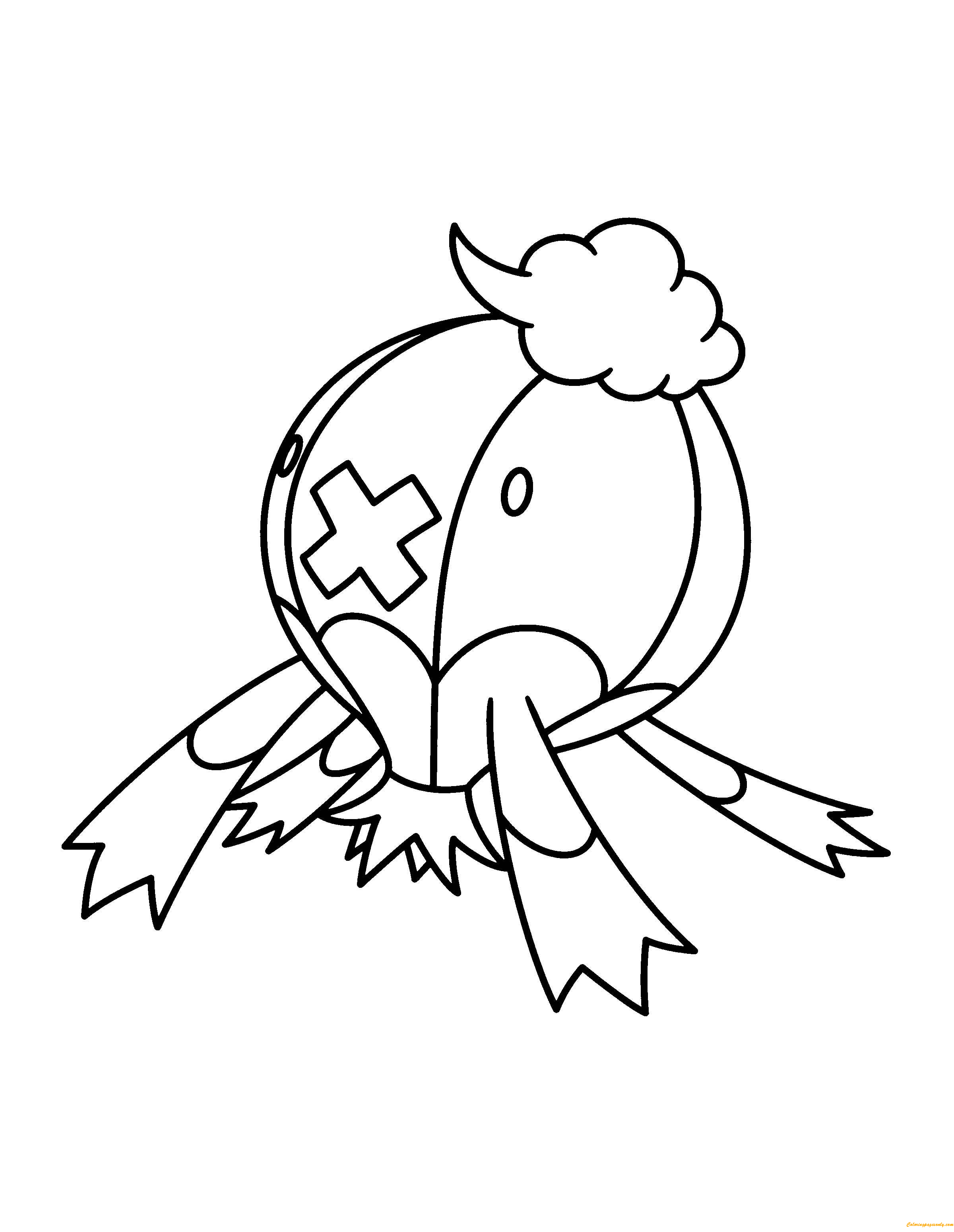 Drifblim Pokemon Coloring Page  Free Pages Online