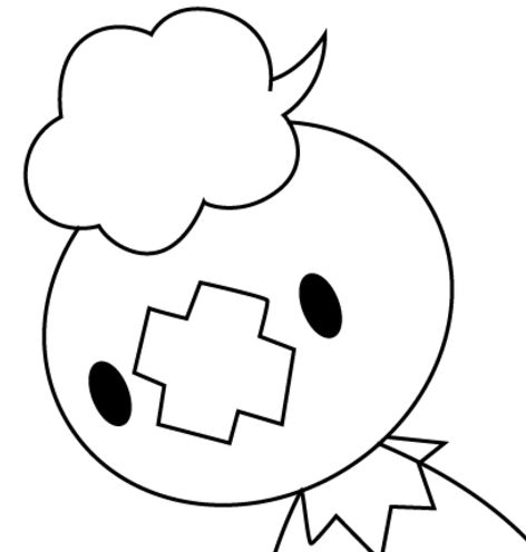 Drifloon Pokemon Coloring Page
