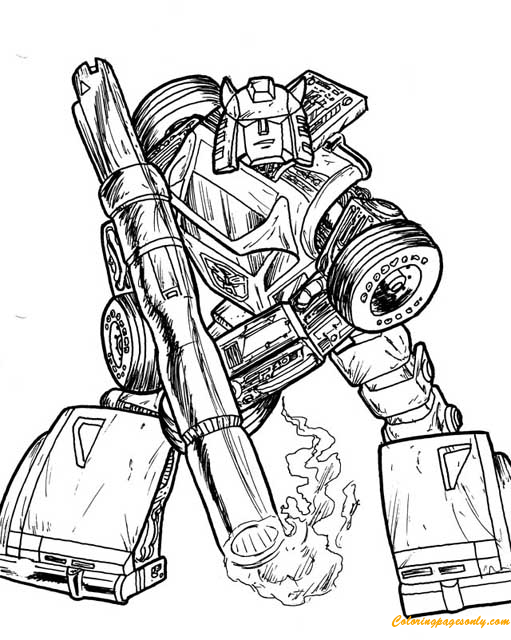 Drift From Transformers Coloring Page