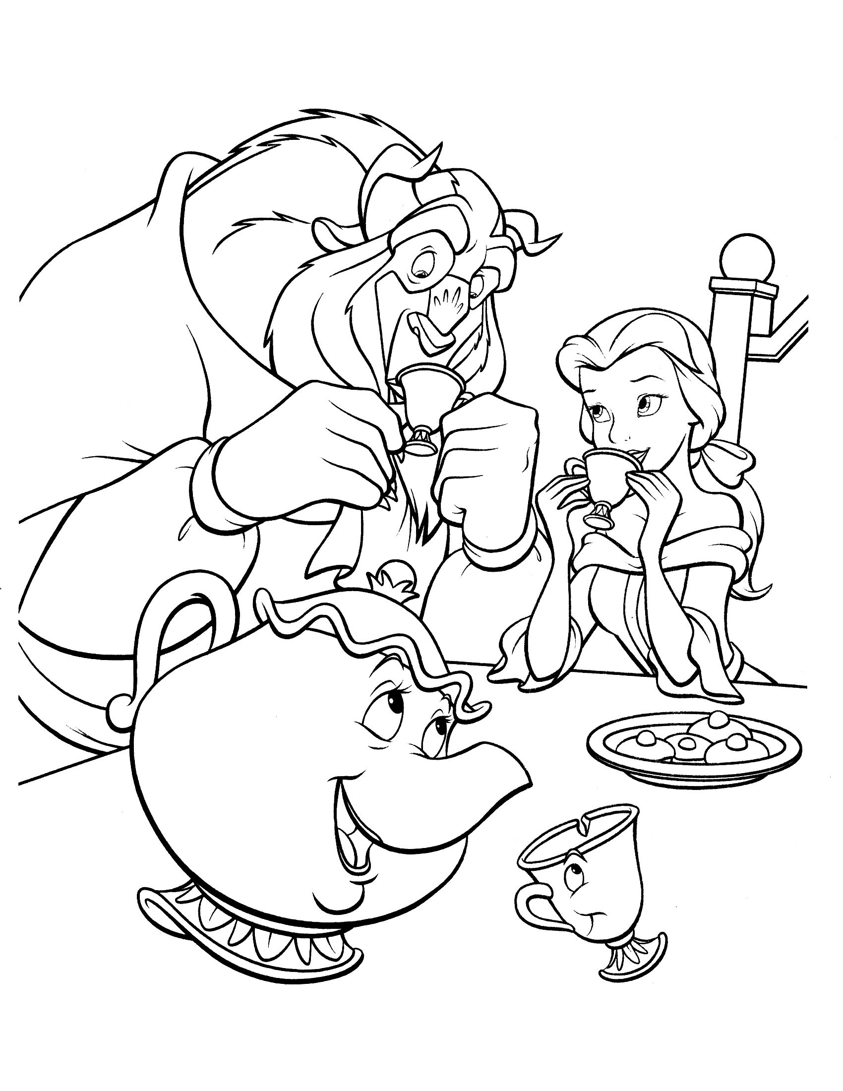 Drink together Coloring Page
