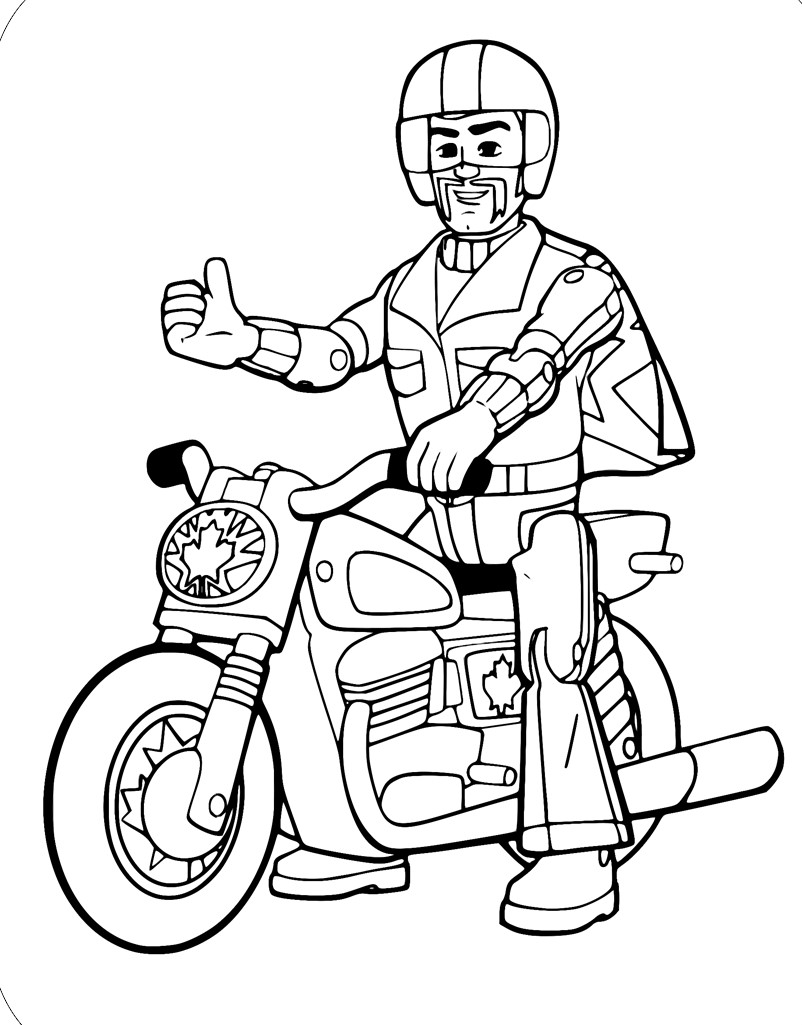 Duke caboom Coloring Page