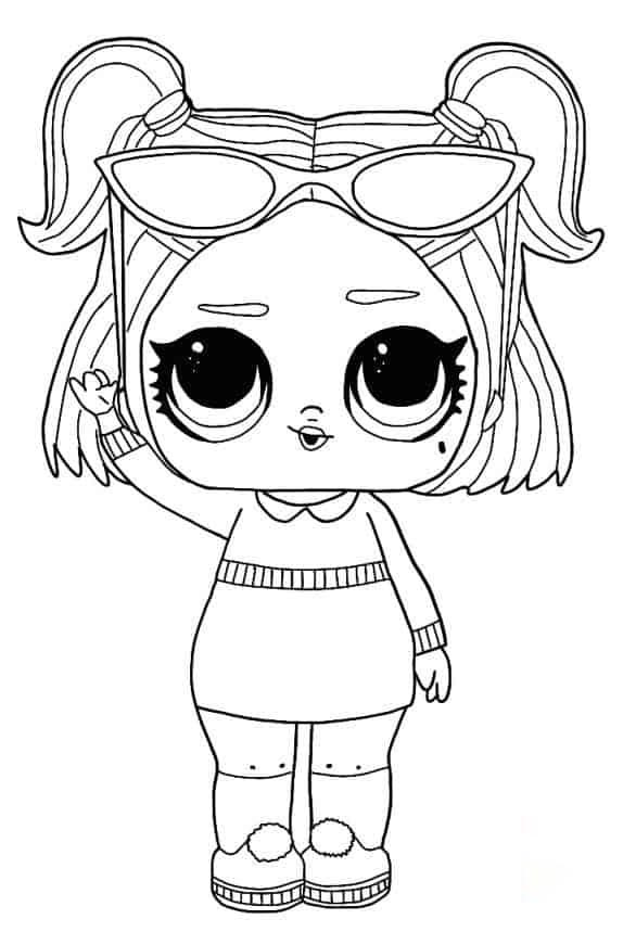 Lol Suprise Doll Dusk Coloring Page