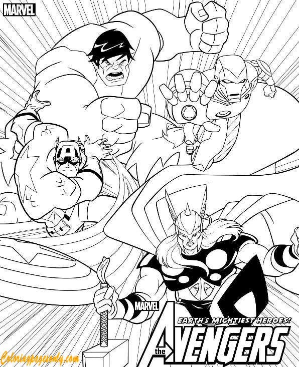 Earth's Mightiest Heroes of Avengers Coloring Pages