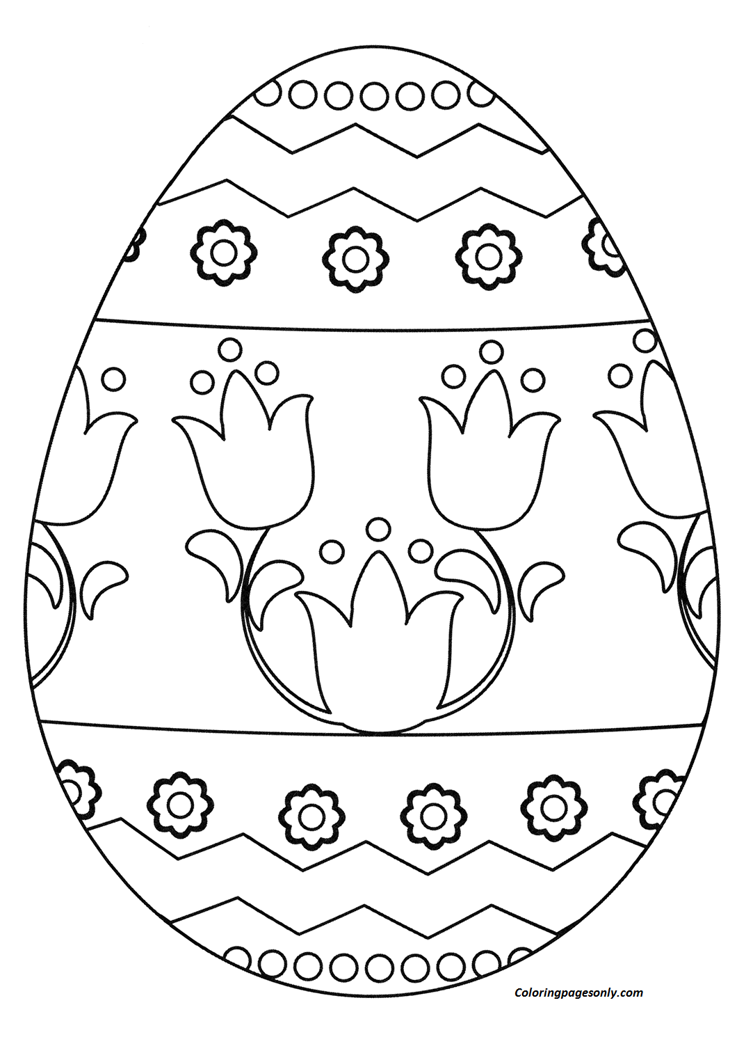 Easter Egg coloring page Coloring Page - Free Coloring ...