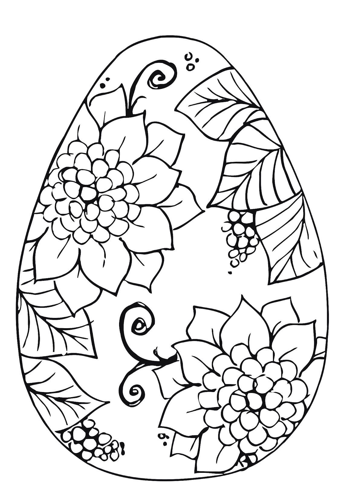 Easter Egg Flower Pattern