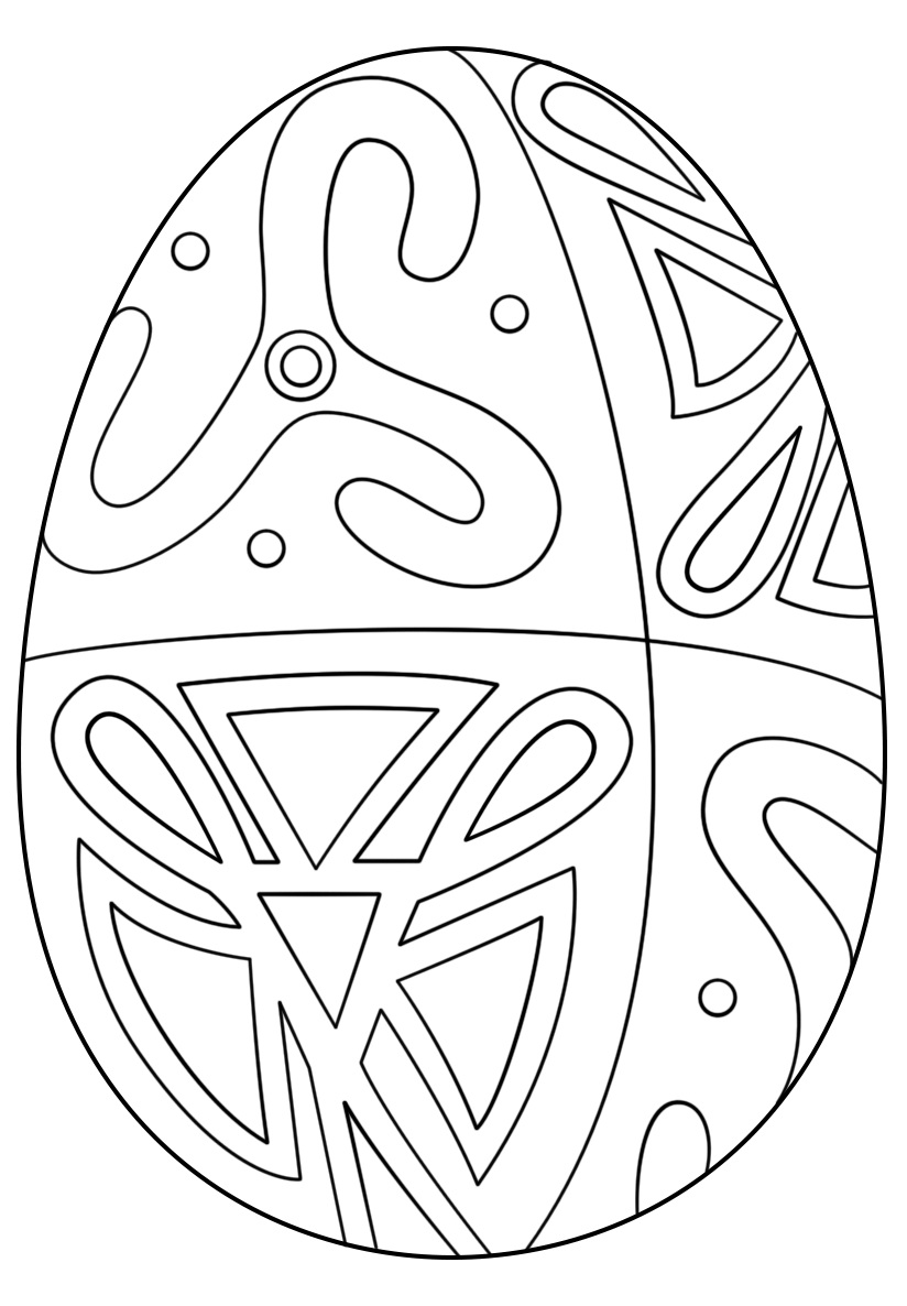 Easter Egg Folk Pattern