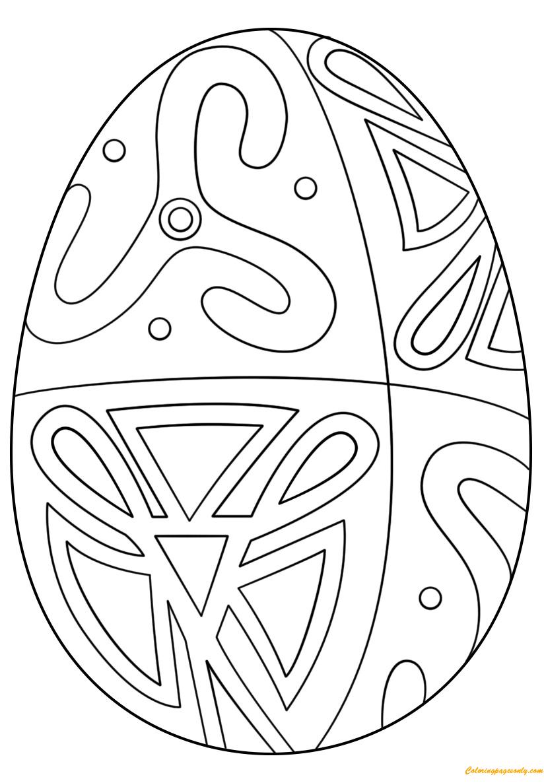 Easter Egg Folk Pattern Coloring