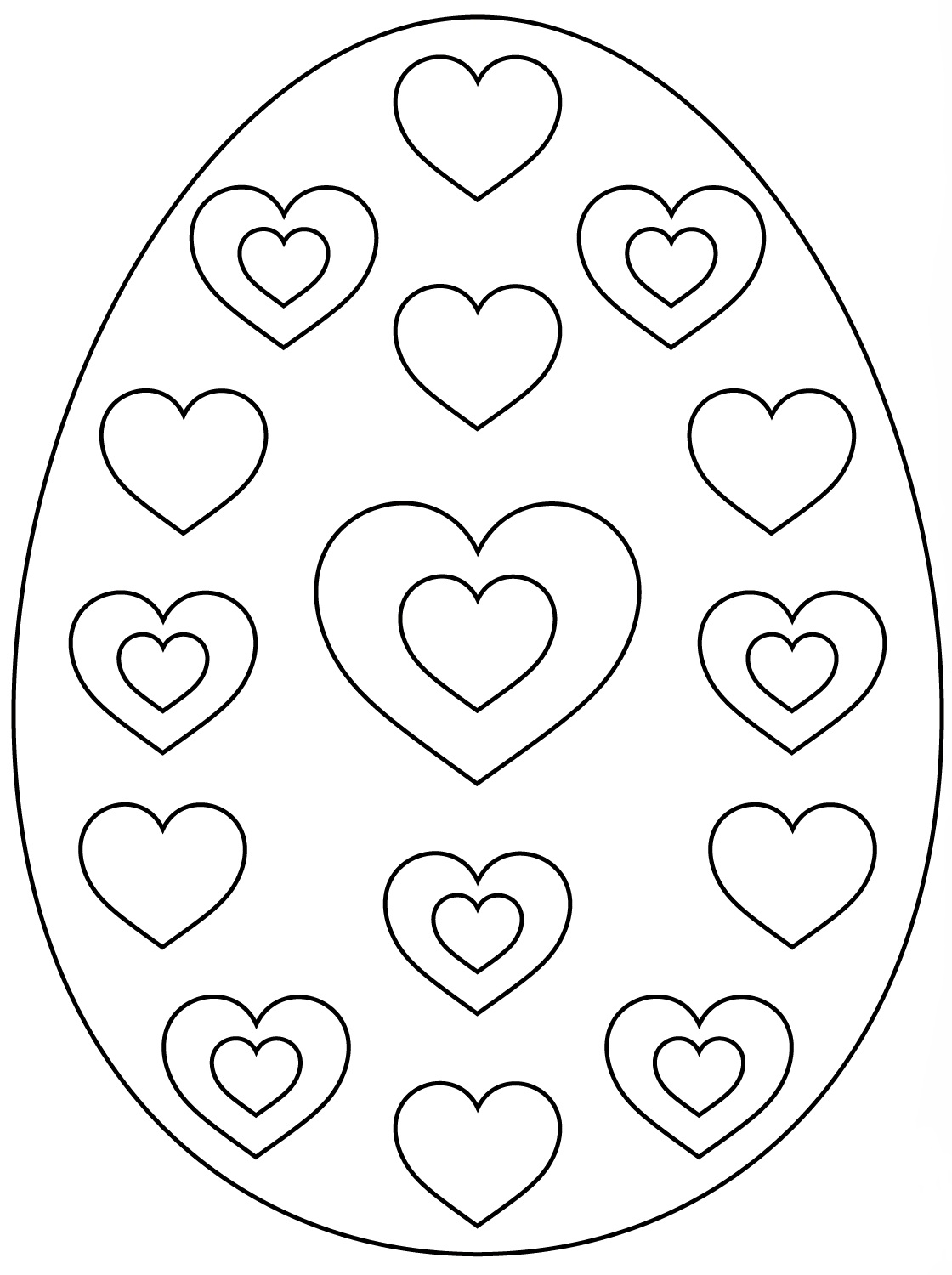 Easter Egg Hearts Pattern