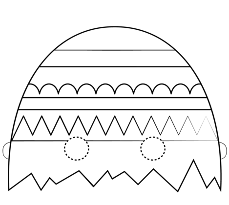 Easter Egg Mask coloring page