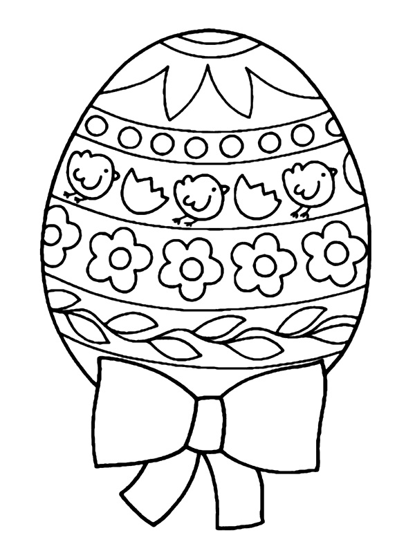 Easter Egg with Ribbons