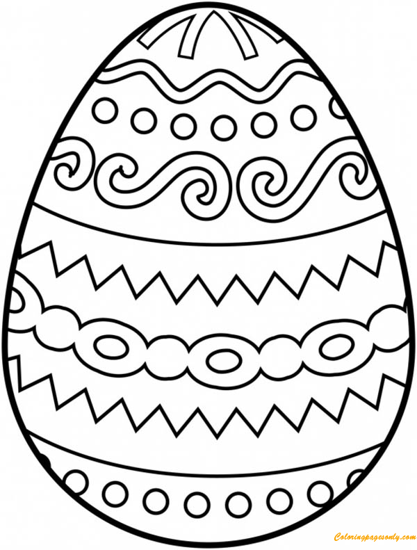 Easter Egg Tribal Pattern Coloring