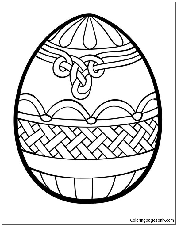 Easter Eggs Celtic Knots Pattern Coloring Page