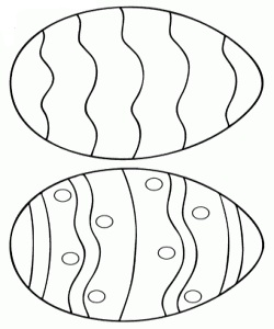 Easter Eggs With Undulations Pattern Coloring Page