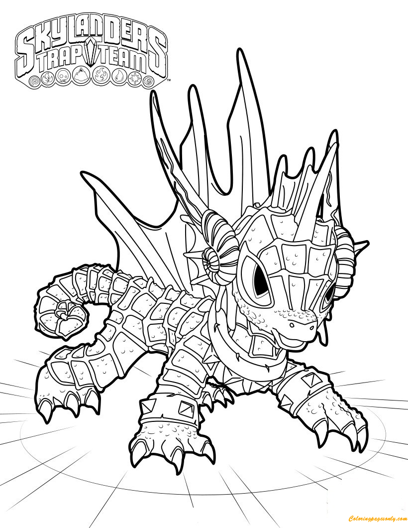 Disney Coloring Pages: Skylanders Spyro's Coloring Pages for Kids ... | 1060x820