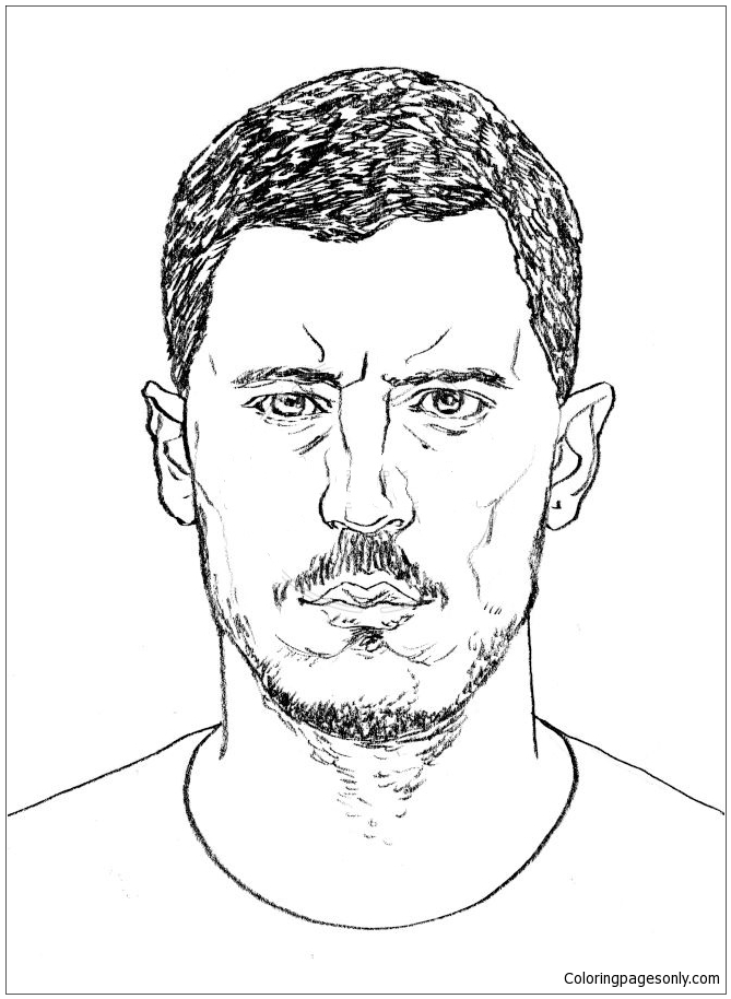 Eden Hazard Image 4 Coloring Page Free Coloring Pages Online