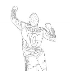 Eden Hazard Coloring Pages Coloringpagesonly Com