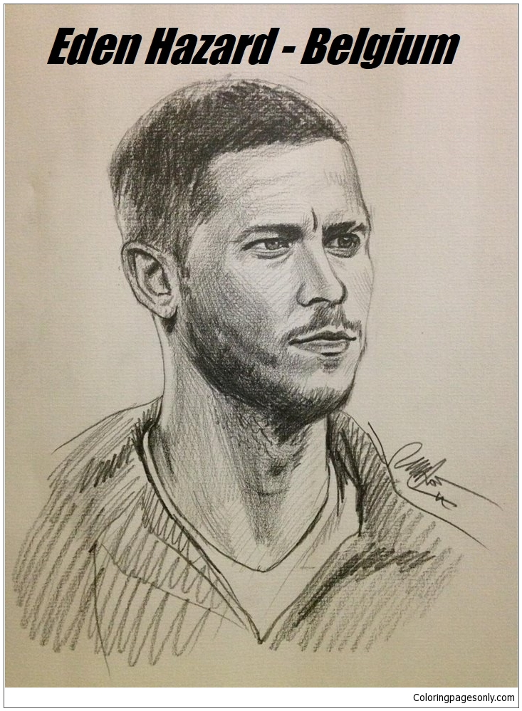 Eden Hazard Image 9 Coloring Page Free Coloring Pages Online