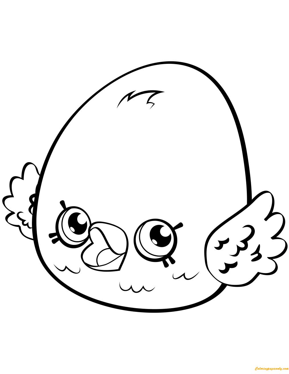 Eggchic Petkins Shopkin Season 3 Coloring Page
