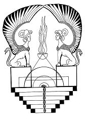 Egyptian Sphinx Mandala Coloring Page