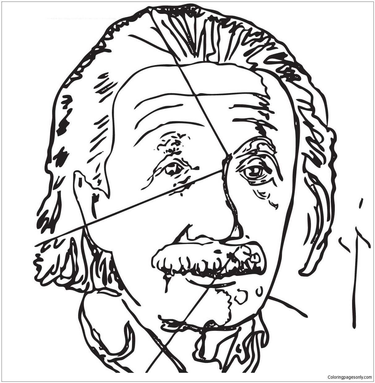Einstein By Andy Warhol Coloring Pages