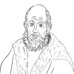 El Greco Self Portrait Coloring Page