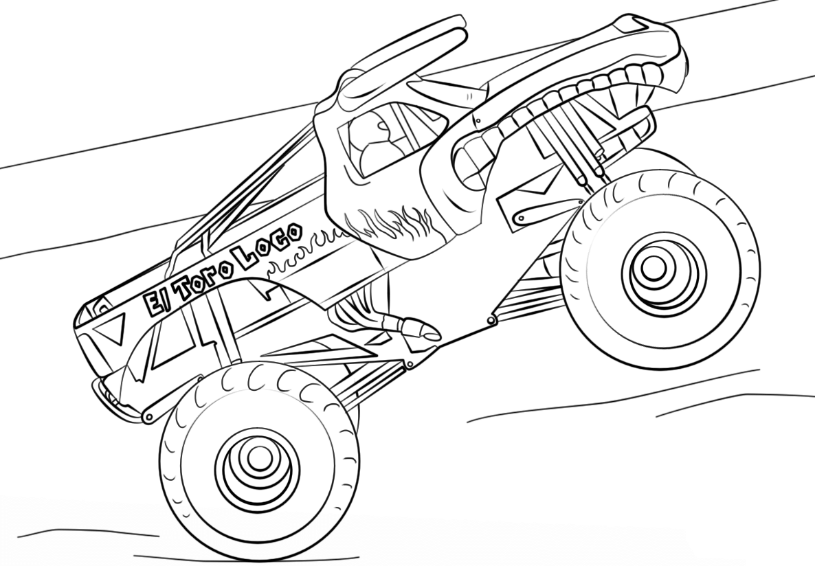 El Toro Loco from Monster Truck Coloring Page