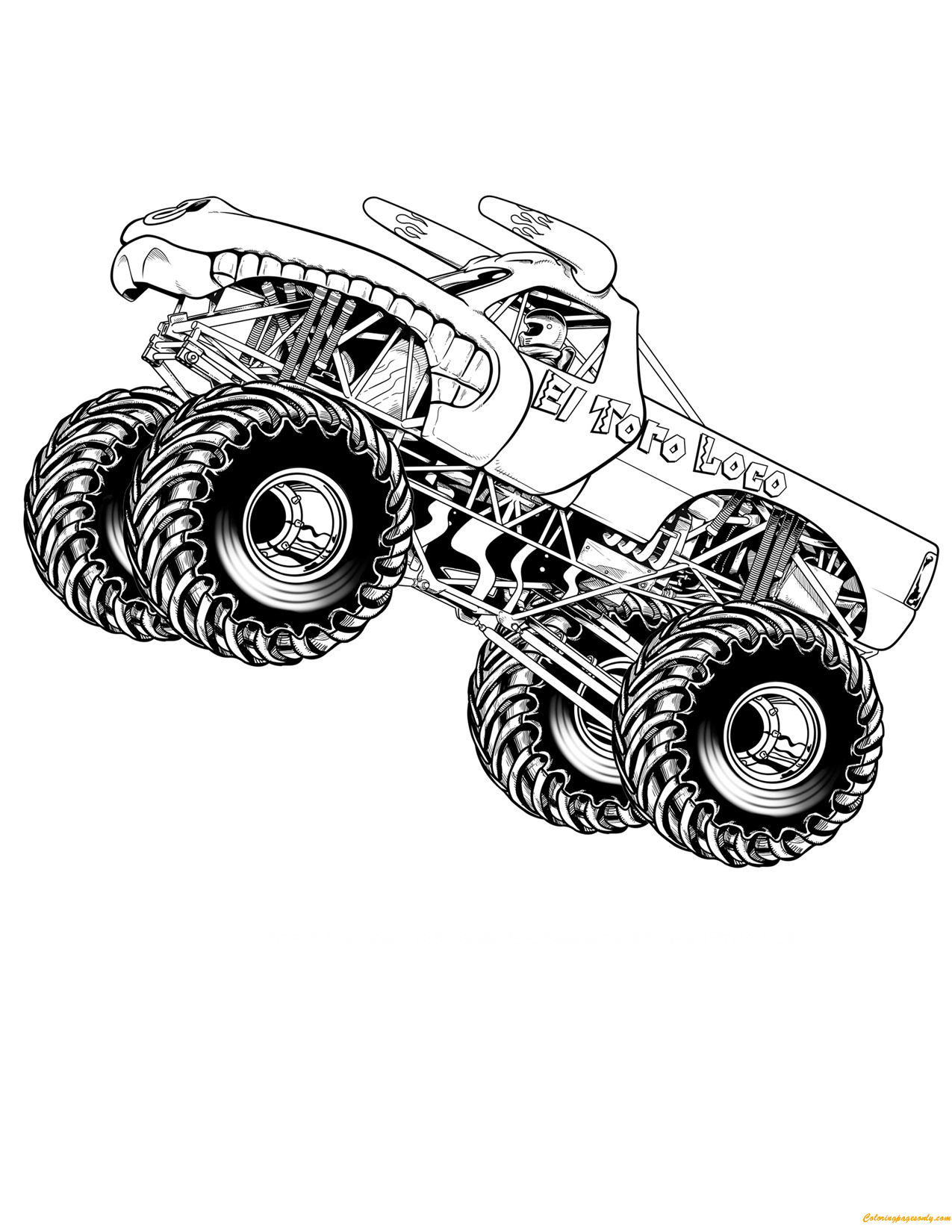 El Toro Loco Jumping Coloring Page Free Coloring Pages