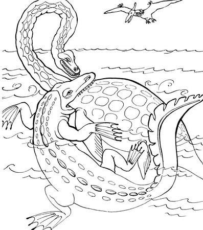 Elasmosaurus vs. Tylosaurus