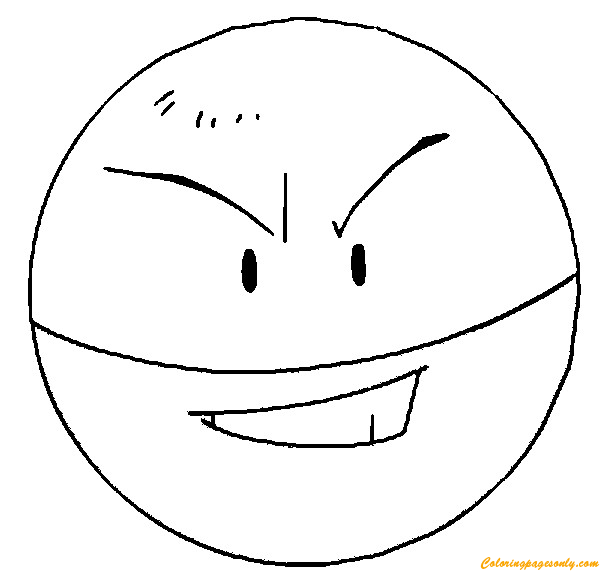 Electrode pokemon coloring page free coloring pages online for Pokemon da colorare e stampare
