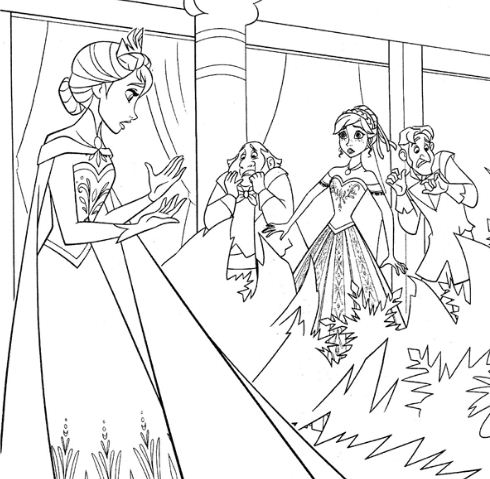 Elsa And Her Ice Power Coloring Page