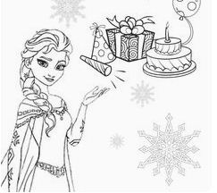 Elsa Snowflake Presents Cake Birthday