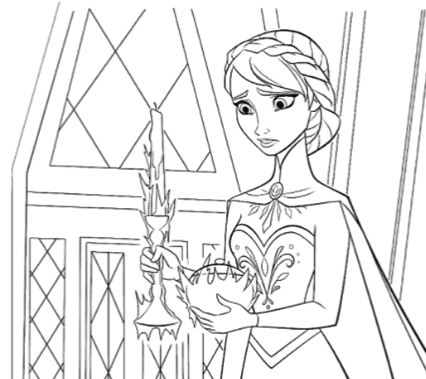 Elsa Trying To Control Her Magic
