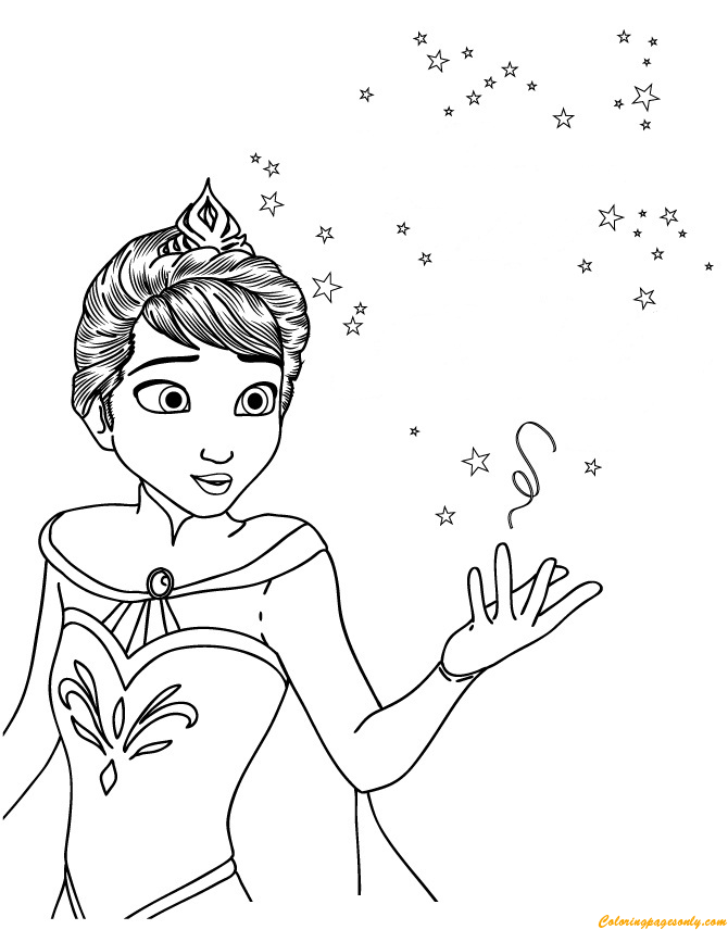 - Elsa Wearing Crown Coloring Page - Free Coloring Pages Online