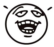 Emotion Funny Face Coloring Page