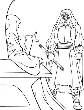 Emperor And Darth Maul Coloring Page