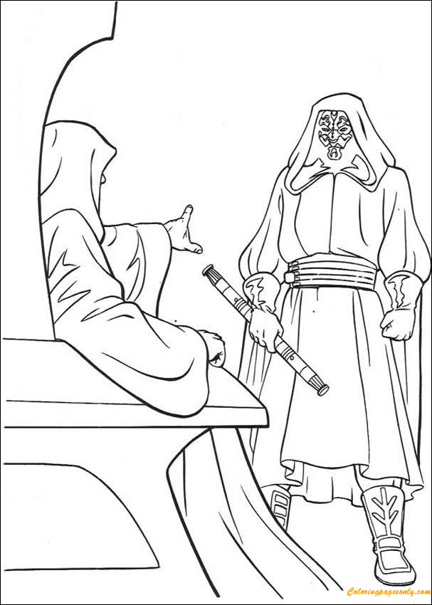 Emperor And Darth Maul Coloring Pages