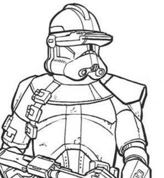 Emperor Clone Soldier With A Gun Coloring Page