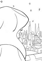 Emperor In Coruscant Coloring Page