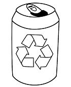 Empty Drink Tin And The Recycling Symbol