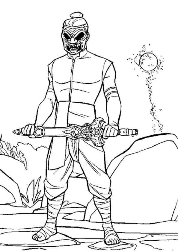 Enemy of Raya in Raya and the Last Dragon Coloring Page