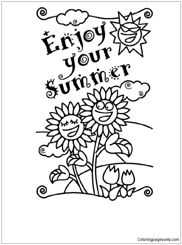 Enjoy Your Summer Coloring Page Free Coloring Pages Online - Enjoy your summer coloring page