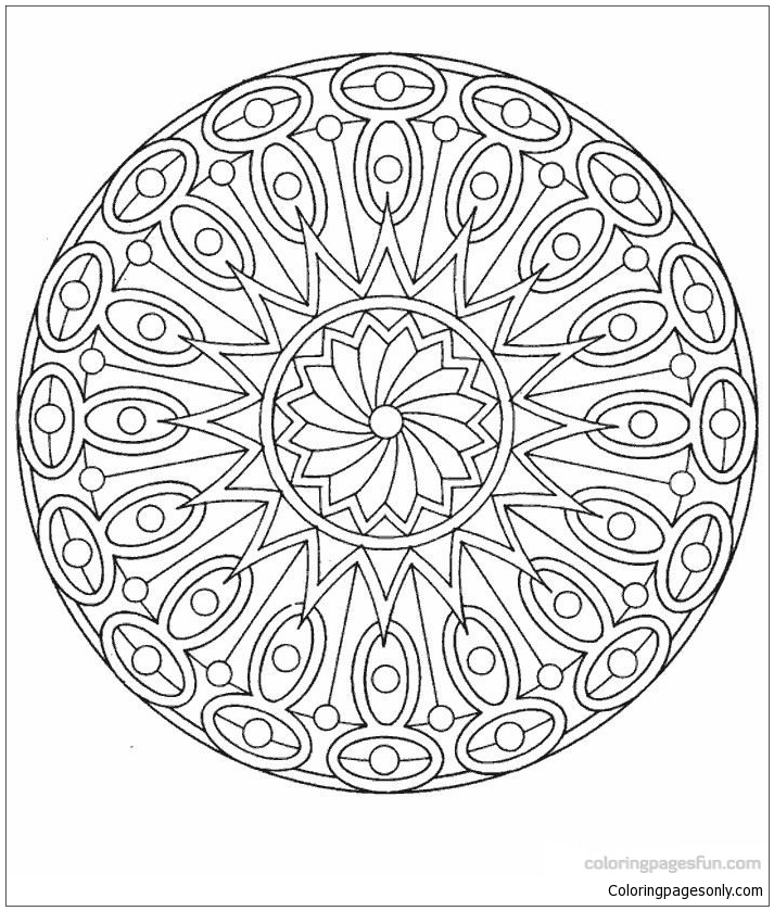 Epic Mandala Coloring Page