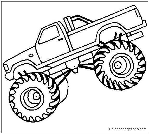Free Coloring Pages Monster Jam Trucks. Epic Monster Truck Coloring Page  Free Pages Online